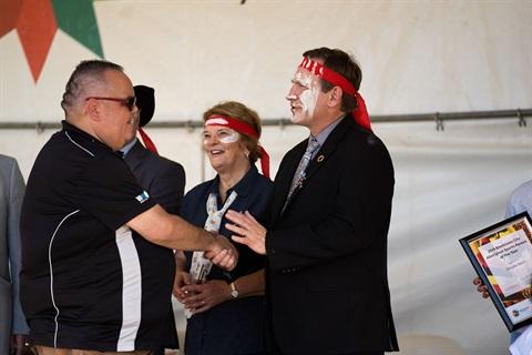 Blacktown City Mayor Stephen Bali MP awards Jamie Matthews the 2019 Blacktown Aboriginal Citizen of the Year..jpg