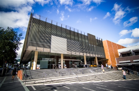 Exterior view of Max Webber Library, Blacktown