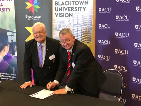 ACU and Blacktown seal partnership