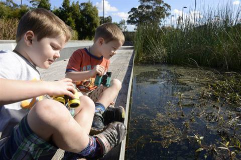 Children at Blacktown Showground